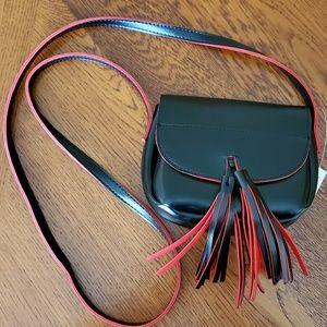 BLACK & RED 💋 PVC CROSS BODY MINI BAG 💋 NWT